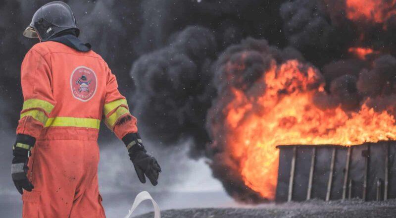 fireman wearing firesuit